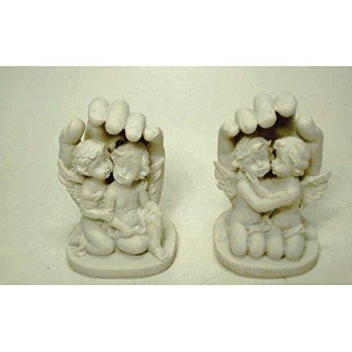 D/écoration angelots dans la main le lot de 2