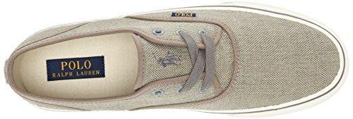 Ralph Lauren Mens Morray Textile Trainers Grey Vintage Burlap