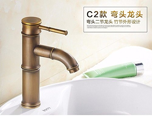 ETERNAL QUALITY Bathroom Sink Basin Tap Brass Mixer Tap Washroom Mixer faucets copper single handle single hole cold and hot sitting in line C2 Kitchen Sink Taps