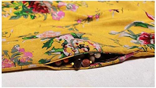 Redondo Otoño Vestidos Cuello Monika Nacional Manga Maxi Moda Mujeres Casual Primavera de Vestido Larga de Vestido Estilo Bohemo Partido Fiesta Playa Suelto Impresión HHZr5axwq