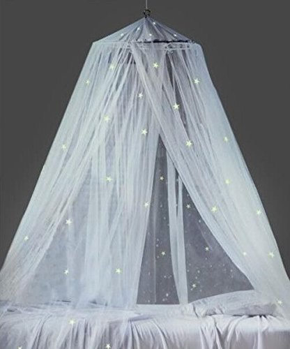 Ledyoung Mosquito Nets with Lights Bed Canopy Netting Outdoor Holiday  Travelling, White: Amazon.co.uk: Baby