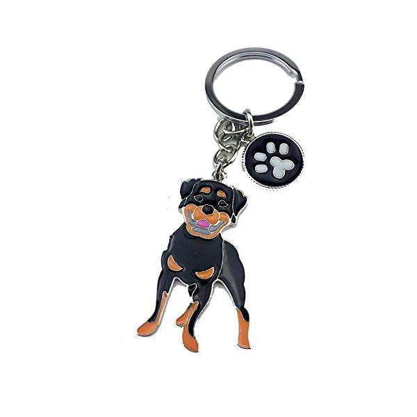 BBEART Dog Keychain ring, Cool Cute Pet Dog Keyring Bag Charm Mini Metal Key Ring Keyfob 1