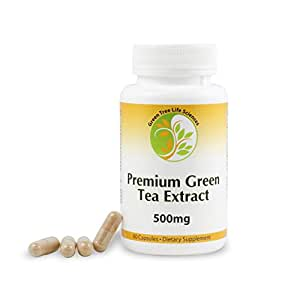 Premium Green Tea Extract, Great Fat Burner for Weight Loss and Antioxidant, 500mg, 70% Catechins
