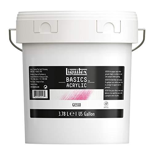 Liquitex BASICS Gesso Surface Prep Medium, 128oz (Gallon)