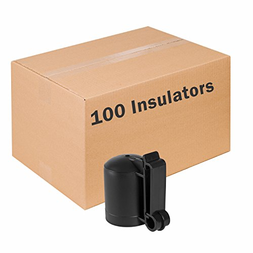 Zareba ITCPB-Z Saftey Cap and Insulator, 100 Pack (Safe T Post Caps)