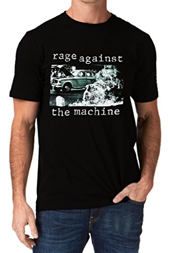 hine RATM 1992 Band Logo Men's T-Shirt Medium Black ()