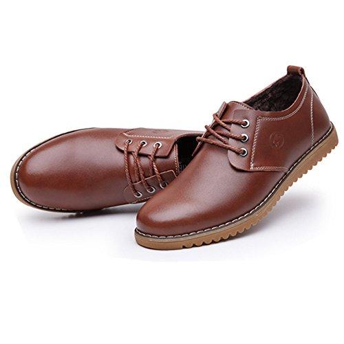 Antideslizante Marrón Ligeras Hombres CUSTOME Zapatos Cuero Planos Zapatos Casuales Ligeras Planos Zapatos fHp1qX41W