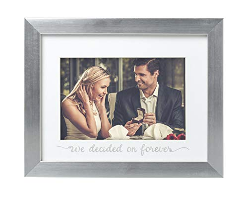 Kate + Milo 'We Decided On Forever' Keepsake Frame, Silver, Cherish Your Wedding ()
