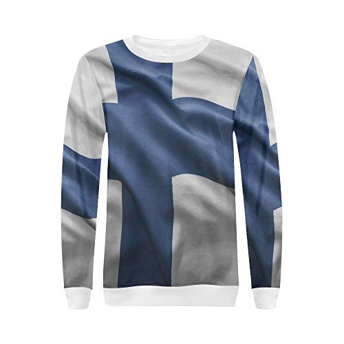 - Lumos3DPrint Finland Flag Women's Pullover Sweater