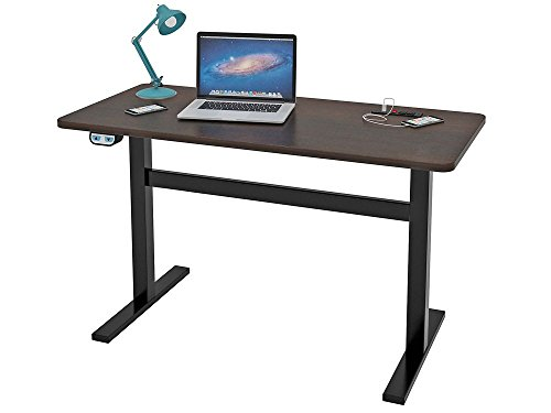 Writing Desk Espresso Top/Black Steel Legs Dimensions: 47.5''W x 23.75''D x 28.75-45.88''H Weight: 78 lbs by Z-Line Designs