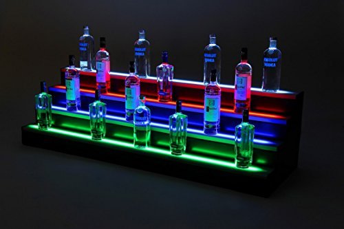 8 Ft 3 Step Led Light Shelf Tier Led Liquor Shelf Led