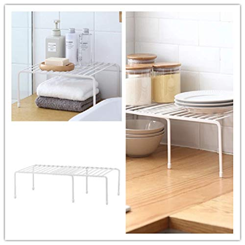 Simple Fashion Retractable Kitchen Life Supplies Rack Multifunctional Seasoning Storage Rack Under Table Storage Shelf (White) by BESTONZON (Image #5)