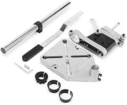 Adjustable Drill Press Stand, Grinder Rack Stand, Work Station/Stand Table for Drill Workbench Repair DIY Tool Base Frame Holder Drill Chuck