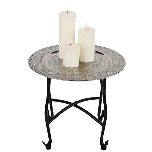 albena shop 73-105 Navin mesa de te oriental mesa plegable con bandeja ø 40 x 36 cm metal