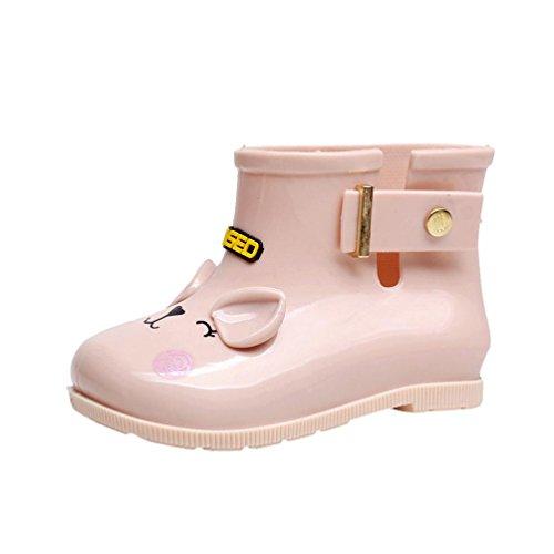 Amiley Waterproof Child Rubber Boots Infant Baby Rain Boots Kids Children Rain Shoes