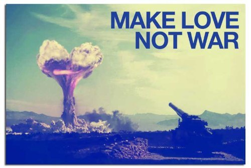Iposters Make Love Not War Peace Poster Gloss Laminated - 91