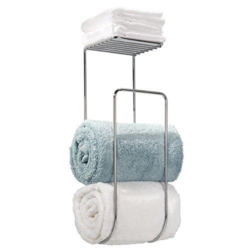 mDesign Towel Holder Shelf Bathroom