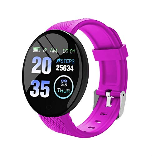 Fitness Tracker voor mannen Dames Slaapmonitor Activity Tracker met bloeddruk Bloedzuurstof, B28 Smart 1.3inch Full…