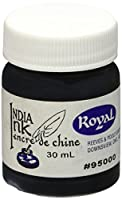 Montrose Colors 370340 Royal India Ink 1 Ounce-Black