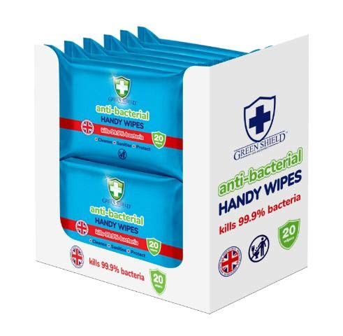 12x Pack GreenShield 15 Household Surface Cleaning Wipes