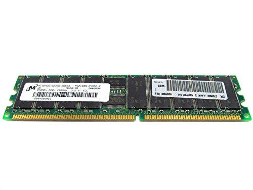 (Micron for HP 256Mb PC2100 266Mhz DDR CL2.5 ECC SDRAM Memory Module Workstation XW5000 XW6000 XW8000 Proliant DL320 DL360 G3 DL380 G3 DL560 ML310 ML330 G3 ML350 G3 BL20p G2 TC2120 - Refurbished - MT18VDDT3272G-265B3)