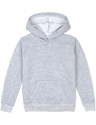 lid Pullover Sport Hoodies Soft Kids Hooded Sweatshirts for Boys and Girls Size 9-10 Years Gray ()