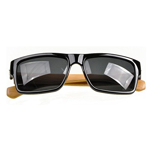 LOMOL Unisex Fashion Trendy Wooden Frame UV Protection Wayfarer - Glasses Wooden Uk Frames