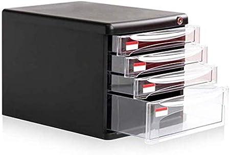 YZjk Office Storage Archivador Archivadores Archivadores de Escritorio Cajones Transparentes Caja de Almacenamiento de Oficina Plástico A4 Bloqueable 4o Piso: Amazon.es: Hogar