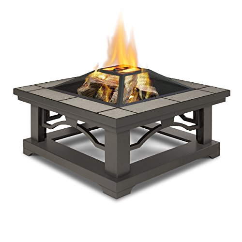 Real Flame 914-GRT Crestone Wood Burning Fire Pit, Gray