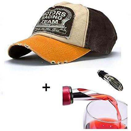 Malloom® Nueva unisex gorra de béisbol algodón mezclado motocicleta Gorra  molienda borde haga viejo Sombrero f693c6db5a56