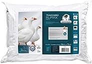 Travesseiro Plumaxintegralmente Lavável para Fronhas Revestimento Algodão Percal Fibrasca Branco 50X70 Cm