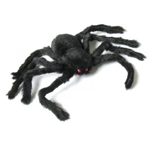 SODIAL(R) New 30cm Black Spider Plush Puppet Toy / Halloween Decor