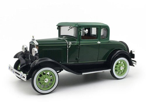 1931 Ford Model A Coupe Valley Green 1/18 Diecast Model Car by Sunstar 6133