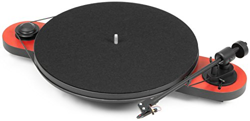 Pro-Ject Elemental USB Turntable, Red (Minimal Record Player)