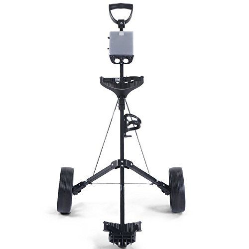 MD Group Golf Cart Holder Trolley Foldable 2 Wheels Push Pull Foldable Design Lightweight Equipment by MD Group (Image #2)