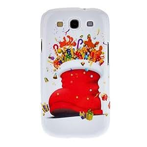 Conseguir Cubierta de la caja del calcetín de Navidad del patrón de la Feliz Navidad trasera dura protectora para Samsung Galaxy S3 I9300