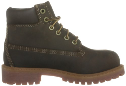 Timberland Authentic - Botas de senderismo de cuero para niño Brown Smooth