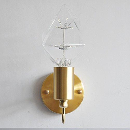 Tête De Lit Chambre À Coucher Postmoderne Nordique Lampe Murale En Cuivre Total Allée Allée Miroir Américain Lights Balcon Hôtel Éclairage Éclairage E27 110-220V