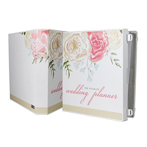 Planning Folder Wedding (UniKeep Keepsake Wedding Planning Binder Kit Organizer - Ultimate Guide for Planning a Wedding - Watercolor)
