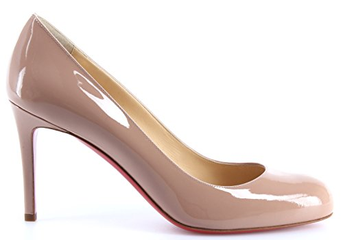 Patent Simple Chaussures Louboutin Christian 85 Calf Femmes Nude Pump Decollete gP7fnwqf