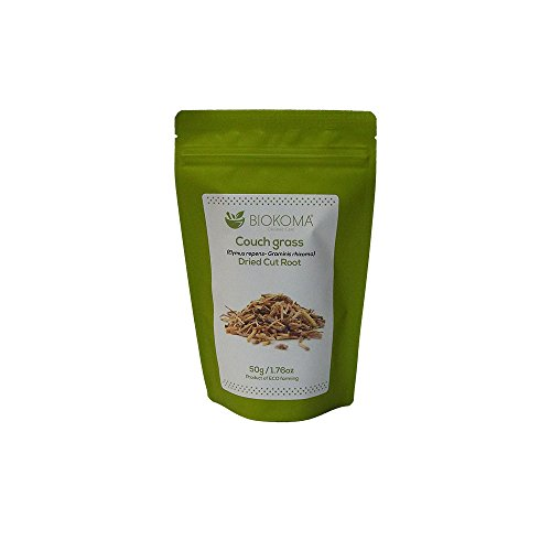 100% Pure and Natural Biokoma Couch Grass Dried Cut Root 50g (1.76oz) in Resealable Moisture Proof Pouch