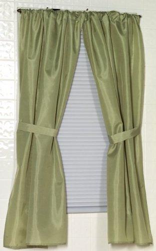 Amazon.com: Carnation Home Fashions Fabric Bathroom Window Curtain ...