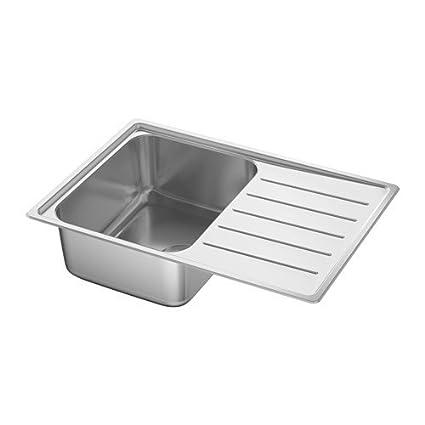 Ikea vattu dalen lavello da incasso 1 piscine; in acciaio inox ...