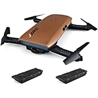 RTF Foldable RC Pocket Selfie Drone - WITH TWO BATTERIES(COFFEE)