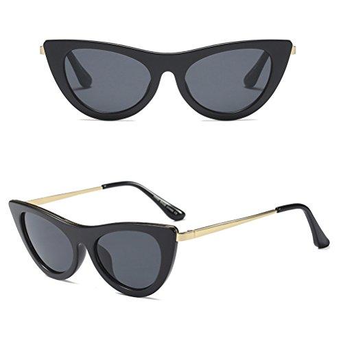 Sol Zhhlinyuan Shape UV400 Summer Black Cat Gafas Casual Eyeglasses Mujeres Eye de Lentes qASrAUwI