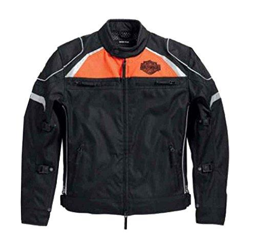 Harley Mesh Jacket (Harley-Davidson Men's Hi-Vis Switchback Lite Riding Jacket, Black 98091-15VM (M))