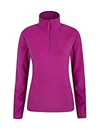 Mountain Warehouse Camber Womens Fleece Jacket - Warm Winter Sweater Berry Small