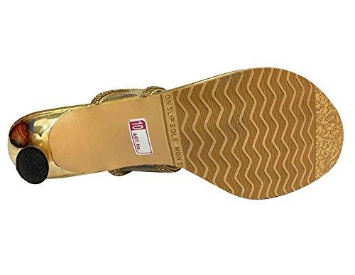 Step n Style , Sandales pour femme or doré