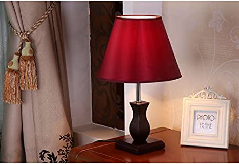 TOTO Modern new Chinese wooden bedroom bedside lamp Wedding
