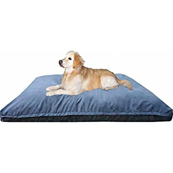 Dogbed4less Jumbo Extra Large Memory Foam Dog Bed Pillow with Orthopedic Comfort, Waterproof Liner and Microsuede Pet Bed Cover 55X47 Inches, Grey